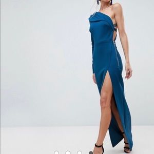 Blue Asymmetric Gown